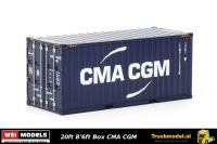 WSI Models 04-2083 CMA CGM 20ft standaard box zeecontainer