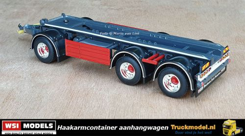 WSI Models 04-2091 3 as Haakarm container aanhangwagen