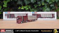WSI Models Tematoys 72-2127 1 op 87 modeltruck Joachim Nisch Scania S Highline veetrailer