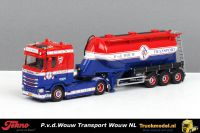 Tekno 73074 P.v.d.Wouw Transport Scania S Normal Cab onderlosser