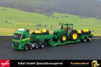 Herpa 304115 Eibel Volvo FH dieplader John Deere tractor