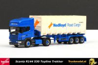Herpa 144339 Nedlloyd Road Cargo Scania 144 TL bulkcontainertrailer