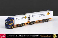 Herpa 145763 ASG Scania R124 25 meter koelcombinatie