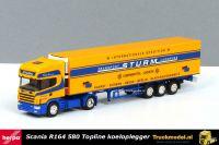 Herpa 149228 Sturm Scania R164 Topline koeloplegger