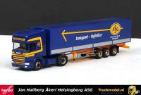 Herpa 243384 Jan Hallberg ASG Scania R144 TL huifoplegger