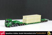 Herpa 301138 Kubler MAN TGX XXL 8x4 3 bed 5 ketelbrug moduletrailer
