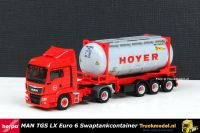 Herpa 302708 Hoyer Group MAN TGS LX Swaptankcontainer oplegger
