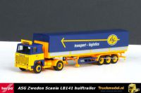 Herpa 304306 ASG Zweden Scania LB141 huifoplegger