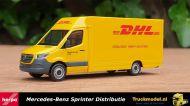 Herpa 095297 DHL Mercedes Benz Sprinter met kasten opbouw