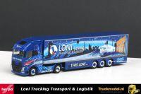 Herpa 121545 Loni GmbH Transport Volvo FH XL Koeloplegger PC Box Model