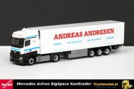Herpa 159937 Andreas Andresen Denemarken Mercedes Actros BigSpace koeloplegger