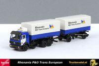 Herpa 169554 Rhenanias P&O Trans European Mercedes SK wisselbakken combinatie