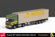Herpa 1769 Getron Spijkenisse Scania R6 Topline Boxtrailer