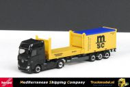 Herpa 302999 MSC Mercedes Actros Gigaspace 2x20ft container oplegger