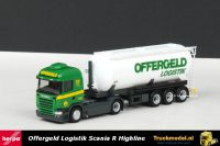 Herpa 303453 Offergeld Scania R480 Streamline Highline korte kipper silotrailer