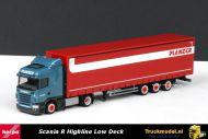 Herpa 303521 Planzer Transport Scania R HL mega schuifzeiloplegger