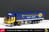 Herpa 303637 Kontinent AB Klippan Zweden ASG Scania 143 Topline Streamline huifoplegger