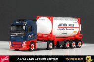 Herpa 304016 Alfred Talke Volvo FH12 Globetrotter swap tankcontainer oplegger