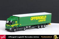 Herpa 304184 Offergeld Logistik Mercedes Actros Streamspace schuifzeiloplegger