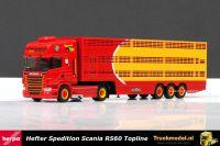 Herpa 304344 Spedition Hefter Scania R Topline Veetrailer