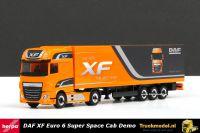 Herpa 305709 DAF XF Euro 6 Super Space Cab kasten oplegger DAF Demo