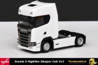 Herpa 306768 Scania S Highline Sleeper Cab 4x2 trekker wit