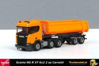Herpa 309394 Scania NG R XT bouwvoertuig halfpipe kippertrailer