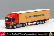 Herpa 309516 Multipli Arcese SpA Iveco Stralis XP schuifzeiltrailer