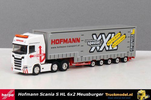 Herpa 310109 Hofmann Scania S Highline Meusbrger dieplader