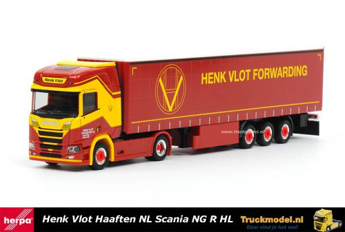 Herpa 310987 Henk Vlot Transport Scania NG R Highline schuifzeiltrailer