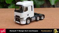 Herpa 311588 Renault T Range 6x2 voorloopas trekker Wit