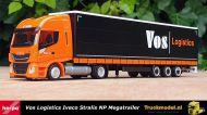 Herpa 312110 Vos Logistics Iveco Stralis NP schuifzeilen Megatrailer