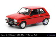 Norev 471403 Peugeot 104 ZS 1979 Persan red