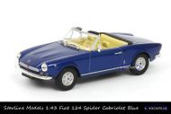 Starline Models Fiat 124 Spider Cabriolet blue