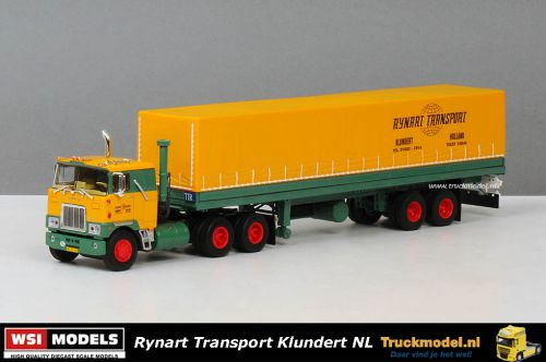 WSI Models 01-2677 Rynart Transport Mack F700 6x4 2 as huifoplegger