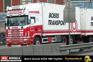 Reservering WSI Exclusief Model 02-2684 Boers Transport Scania R164 Topline koelcombi