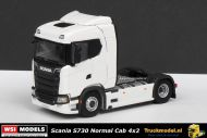 WSI Models 03-2003A Scania S730 Normal Cab 4x2 trekker wit