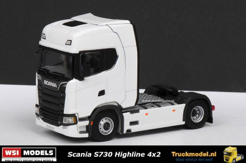 WSI Models 03-2003 Scania S730 Highline 4x2 trekker wit