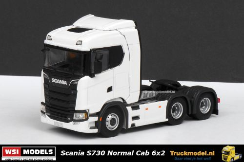 WSI Models 03-2006 Scania S730 Normal Cab 6x2 sleepas trekker wit