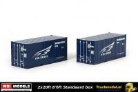 WSI Models 04-1124 NYK Group 2x20ft standaard box zeecontainer set