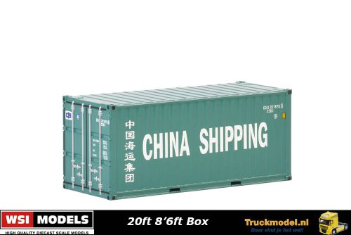 WSI Models 04-2036 China Shipping 20ft 8ft6 standaard box zeecontainer