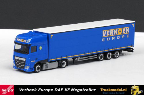 Herpa 308229 Verhoek Europe DAF XF SSC Lowdeck Megatrailer