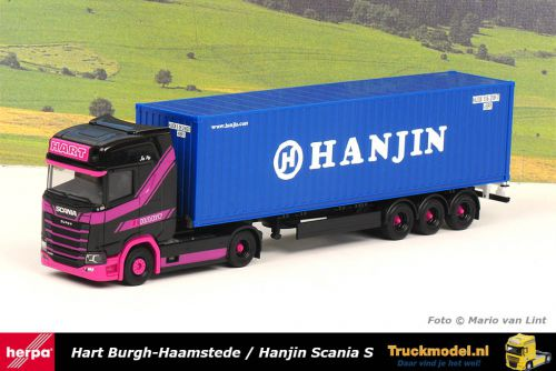 Herpa 313155 Hart Hanjin Scania S450 containertrailer