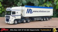 Tekno 52138 Mike Beer Daf XF95 SSC volume kippertrailer