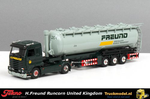 Tekno 55447 H.Freund United Kingdom Scania R143 Top Streamline silotrailer