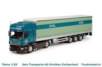 Tekno 63965 Setz Transporte AG Scania R730 TL Schuifzeiloplegger