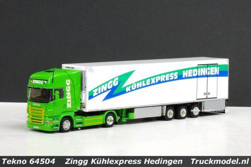 Tekno 64504 Scania R TL Koeloplegger Zingg Kühlexpress Hedingen CH