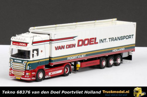 Tekno 68376 van den Doel Poortvliet Scania R620 Topline Gekoelde Walkingfloortrailer