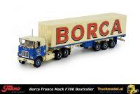 Tekno 72225 Borca France Mack F700 6x4 trekker gesloten oplegger
