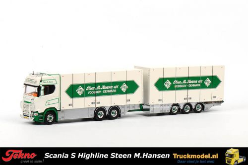 Tekno 72269 Steen M.Hansen Scania S Highline wipkar combinatie